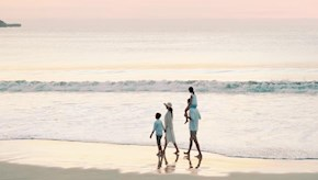 People walking on a beach